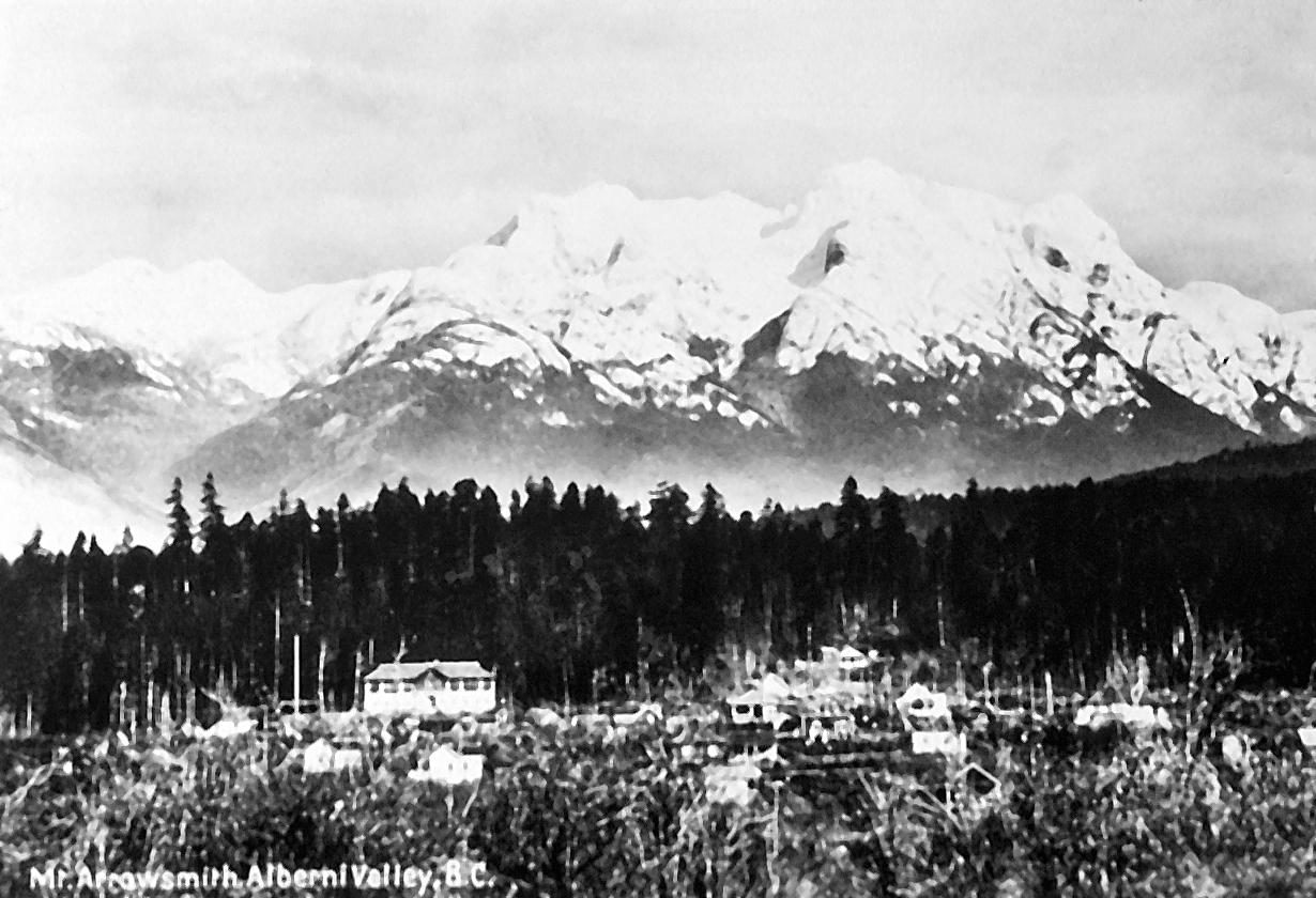 Mount Arrowsmith from Port Alberni circa 1914