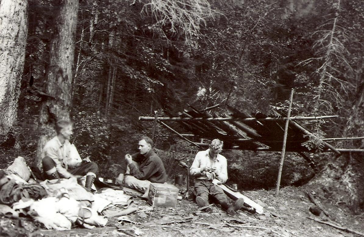 Comox camp, en-route to the Comox Glacier in 1922