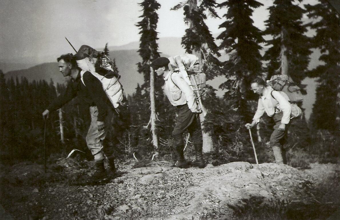 En-route to the Comox Glacier, 1922
