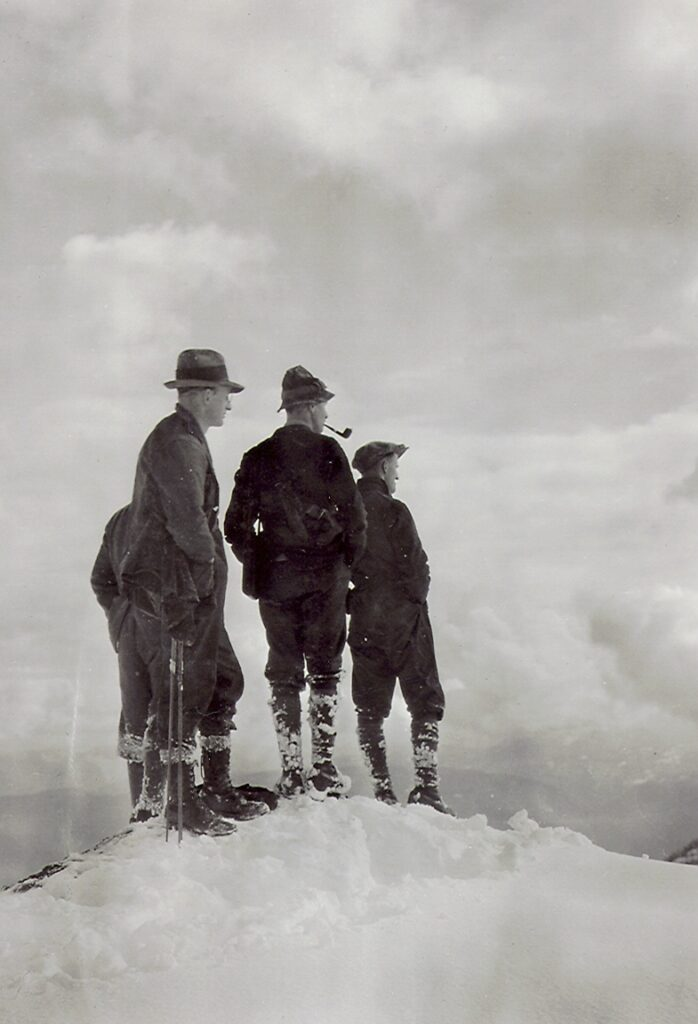 On the summit of Mt. Becher 5 April 1926 – Clinton Wood, Geoffrey Capes, Fred Wood, Ian Ingles