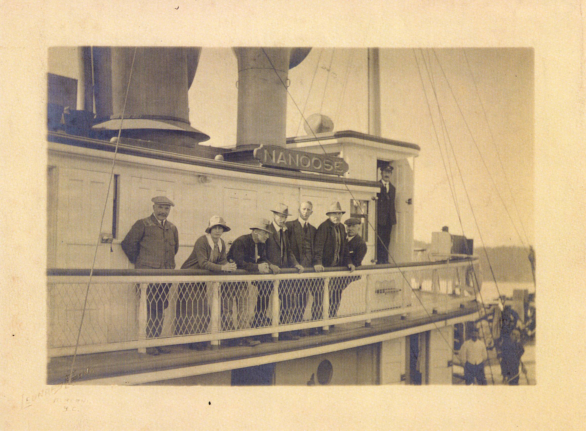 The steamer Nanoose with the members of the Big Interior Mountain expedition on-board.